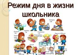 """""""Режим дня школьника""""."""